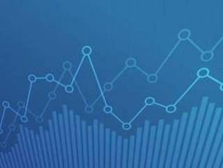 与上升趋势线图的抽象财政图