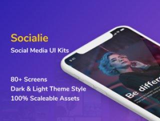 Sketch iOS UI工具包,Social App UI工具包