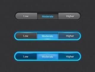 选项按钮PSD分层素材