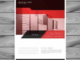 业务介绍的红色小册子布局模板
