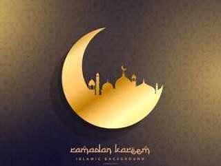 金色的月亮和清真寺设计