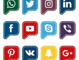 圆的讲话社会媒介汇集