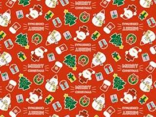 圣诞节模式红色