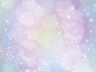 冬天背景雪化妆(柔和的梦想颜色)A3
