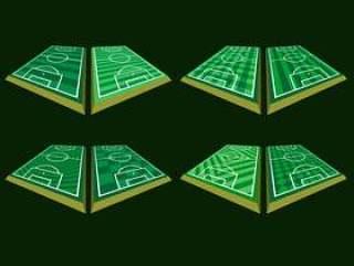足球场地角度 矢量