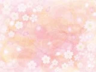樱木手写水彩壁纸背景透明的感觉樱花哈娜春天