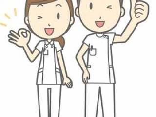 护士男性和女性 - 好吧 - 全身
