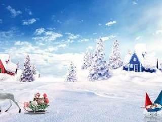 圣诞节活动图片分层