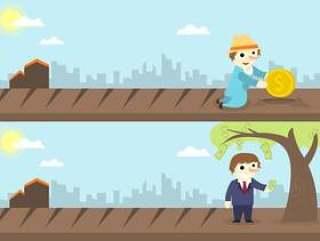 经济利益概念插画矢量