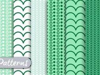 绿色装饰图案集