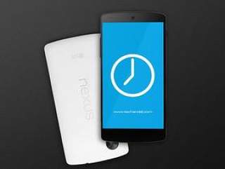Google Nexus5 PSD mockup