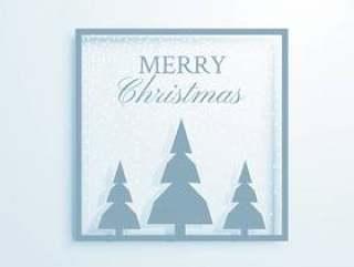 与树例证的典雅的圣诞节问候设计