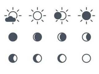 太阳和月亮的图标
