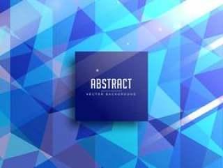 抽象的蓝色三角形背景