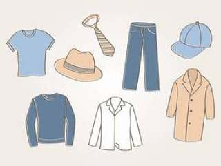 男人的衣服矢量