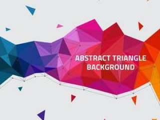 抽象三角形矢量背景
