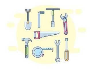 修理工工具图标