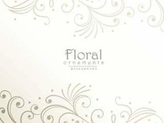 典雅的花卉装饰背景设计