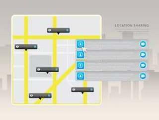 鼠标悬停位置/ GPS程序。网站设计菜单。