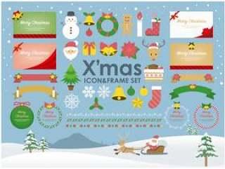 圣诞节图标&框架设置