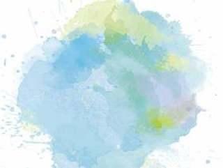 淡蓝色的水滴水分水彩手写背景纹理材料