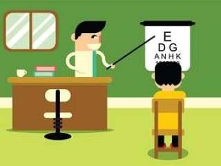 眼科测试在医生办公室