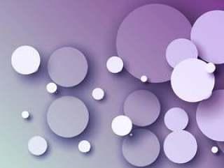 与抽象3d圈子的惊人的紫色背景
