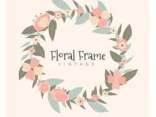 复古花卉框架