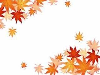 秋季的叶子框架
