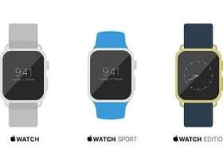 Flat Apple Watch Mockups