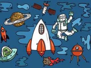 宇航员太空飞船外星人在太空中
