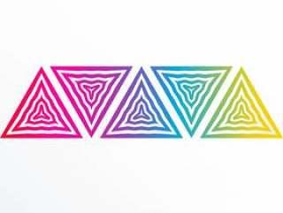多彩的抽象三角形状背景
