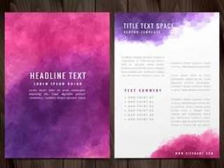 创意水彩宣传册传单设计插图