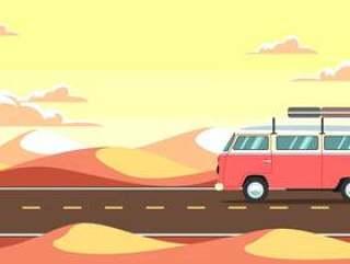 沙漠之旅矢量