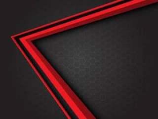 红色箭头方向灰色六角形滤网背景。