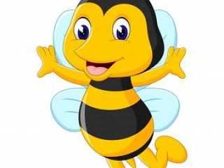 可爱的蜜蜂卡通的插图