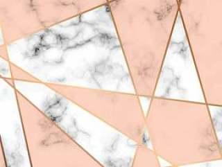 大理石纹理设计与金色的几何线条,黑色和白色大理石花纹表面,现代豪华的背景下,矢量图