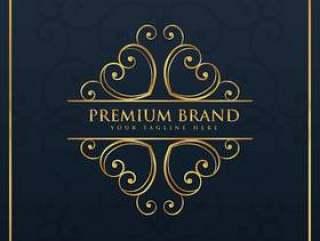 优质和豪华品牌的会标标志设计