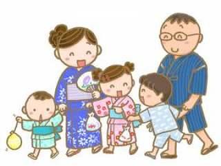 夏季节日家庭