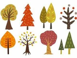 斯堪的纳维亚风格的树手写