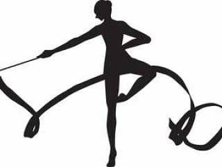 艺术体操彩带转2