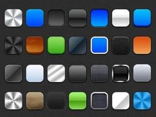 28枚按钮UIPSD样式设计素材