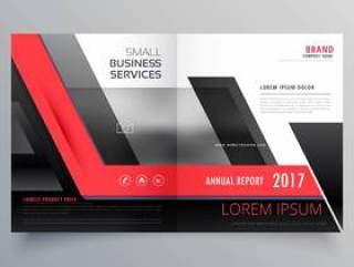 红色和黑色的双丰富多彩的创意宣传册设计模板