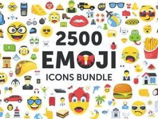 2500个表情符号emoji图标合集打包下载(包含AI,EPS,SVG,PNG,PDF,JPG格式)