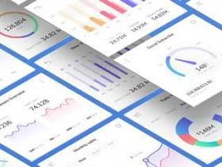 仪表板信息图表图表矢量
