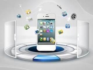 手机创意展示PSD分层