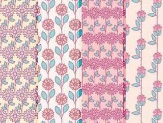 矢量花卉图案集合