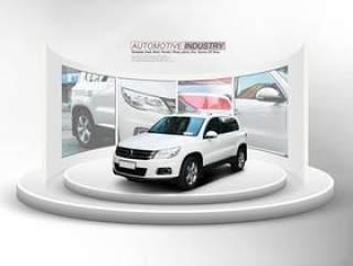 汽车产品展台与背景墙PSD分层