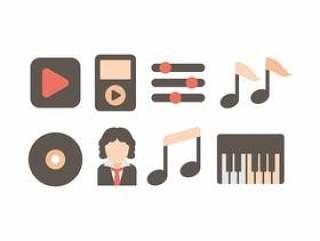 贝多芬的音乐图标集