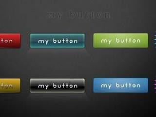 网页按钮pad分层素材